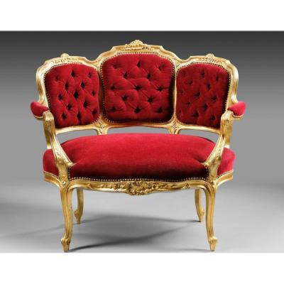 A 19th Century Golden Wood Marquise