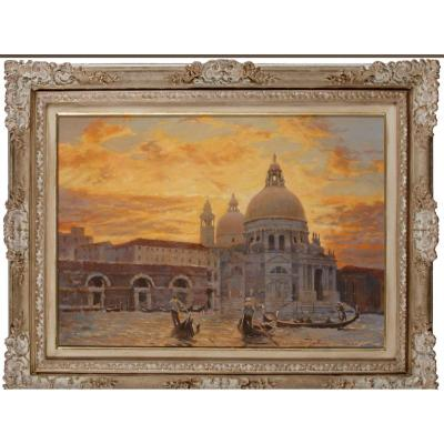 Russian Oil On Canvas Mekhti Mezentsev  XXth Century