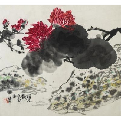 """""""Avec le gel les fleurs somptueuses dévoilent une nouvelle beauté"""", Zhang Leiping"""