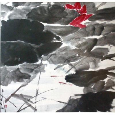 Le Lotus Rouge - Chen Wen Hsi (1906-1991)