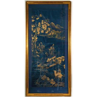 Grande Peinture Chinoise Dans Le Style De Yu Zhiding