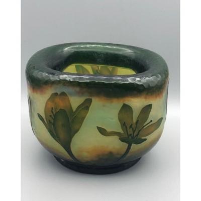 "Daum Nancy : Vase  - ""crocus"