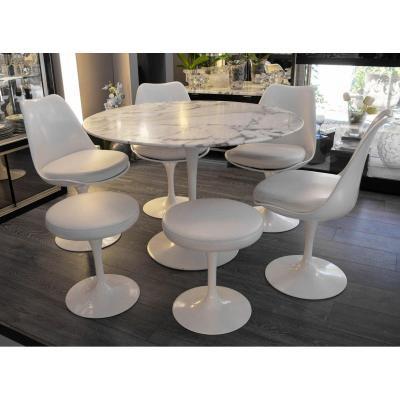 Knoll Et Eero Saarinen : Table salle à manger et 4 chaises