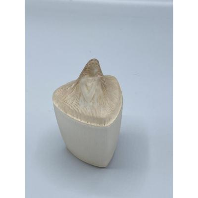 RenÉ Lalique : Coty, Pour Coty, 1912 Pot Triangulaire à Onguent