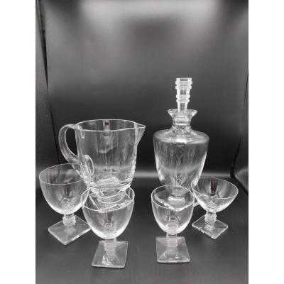 "Maison Lalique : Service ""Argos"" 48 Verres"