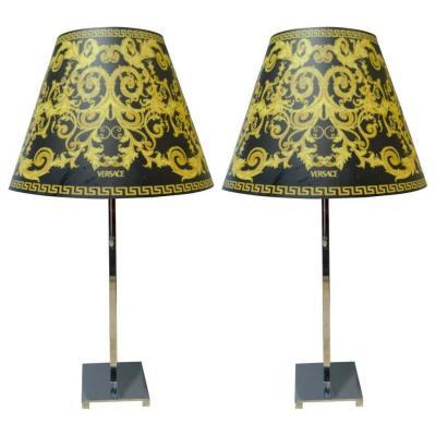 Paire De Lampe Versace