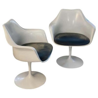 Knoll & Eero Saarinen : Paire De Fauteuils Tulipe