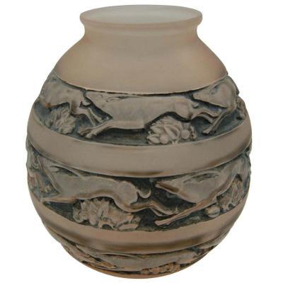 Lalique (1860-1945) Vase Modèle Soudan