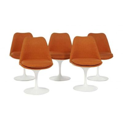 "Eero Saarinen (1910-1961) Suite Of Five ""tulip"" Chairs"