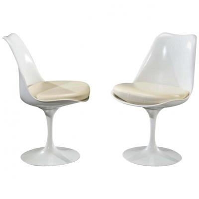 Eero Saarinen & Knoll 2 Chaises Tulipe XXème