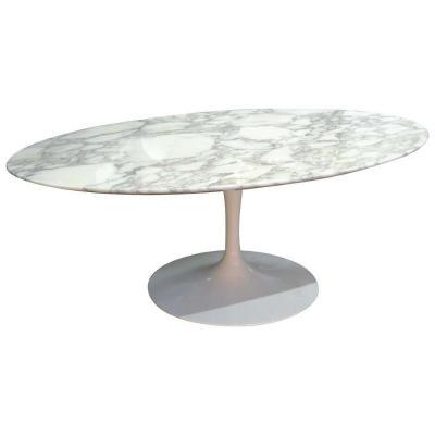 """Table basse ovale """"Tulipe"""" Eero Saarinen & Knoll International"""