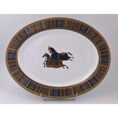 Hermes, Plat Ovale Collection Cheval d'Orient