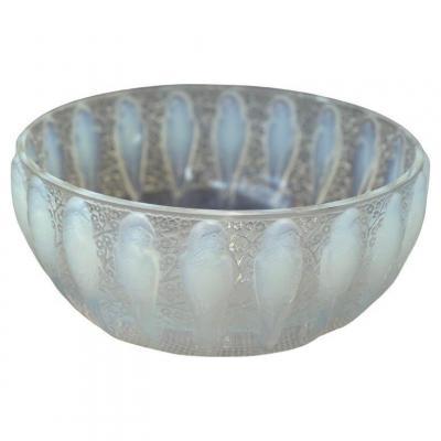 """René Lalique : Opalescente Coupe """"Perruches """""""