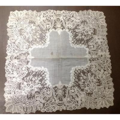 Beautiful Alencon Lace Bridal Handkerchief