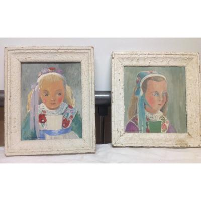 Two Signed Paintings Monfort Le Guellaff