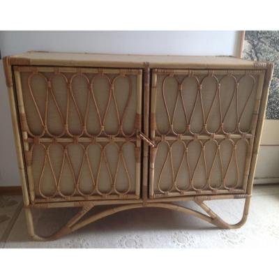 Rattan Furniture With Two Doors