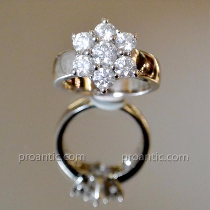 Bague étoile En Or Blanc Et Diamants