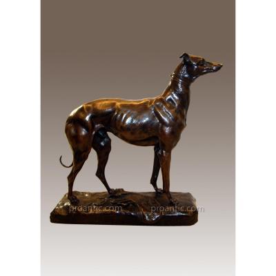 "Bronze ""greyhound Racing"" Signed P. Comolera"
