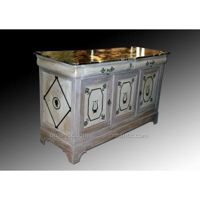 Walnut Sideboard Louis Philippe Rechampie In Grisaille Reasons For Blacks De Decor