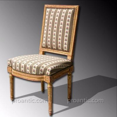 Wooden Chair Sculptured And Gilded, Stamped Georges Jacob