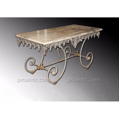 Table De Boucher dessus marbre