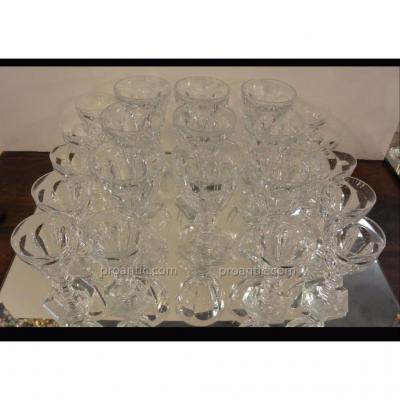 Baccarat Harcourt Model 9 12 Water Glass And White Wine Glasses
