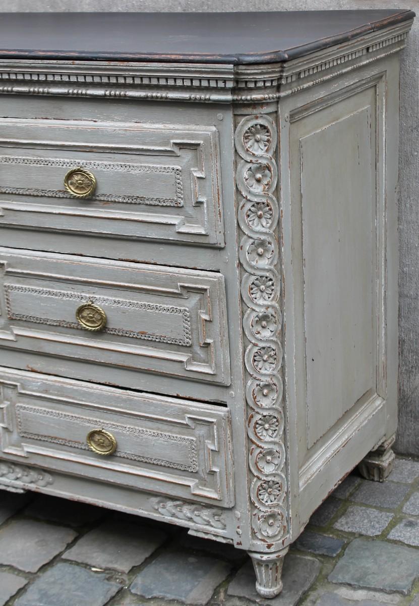 Commode De Style Louis XVI  18ème