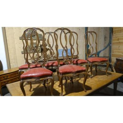 Six Chairs Venetian Epoque 1900
