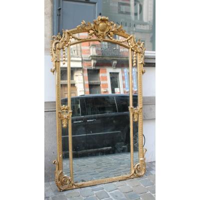 Miroir En Bois Doré Style Louis XVI
