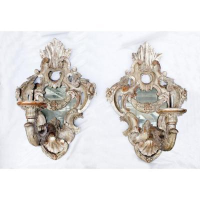 Paire d'Appliques Baroque XVIII ème