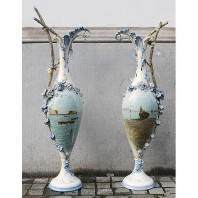 Pair Of Large Porcelain Vases