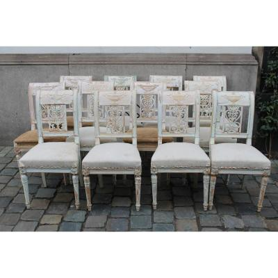 Suite Of 12 Directoire Style Chairs