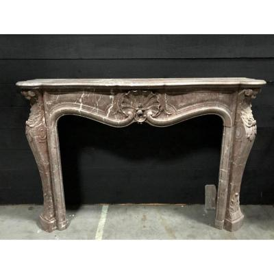 Louis XV Style Fireplace In Marble