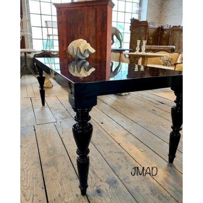 Table Laqué Noir