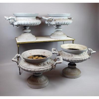 Suite De 4 Vasques De Jardin