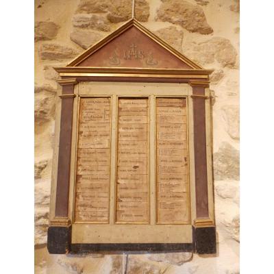 Tableau De Service Chapelle De Pénitents