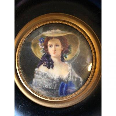 Miniature In Ivory 19th
