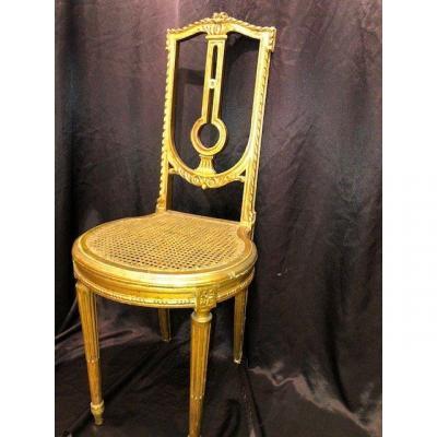 Chaise En Bois Doré Style Louis XVI