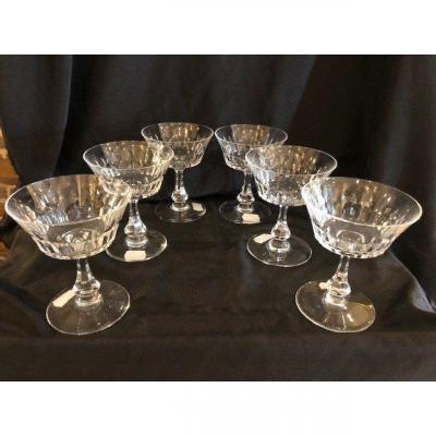 Six Coupes à Champagne Baccarat