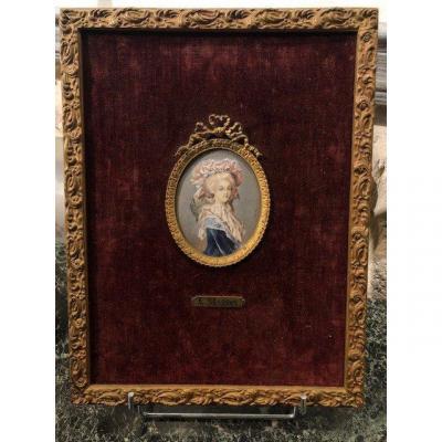 Miniature On Ivory Marie Antoinette