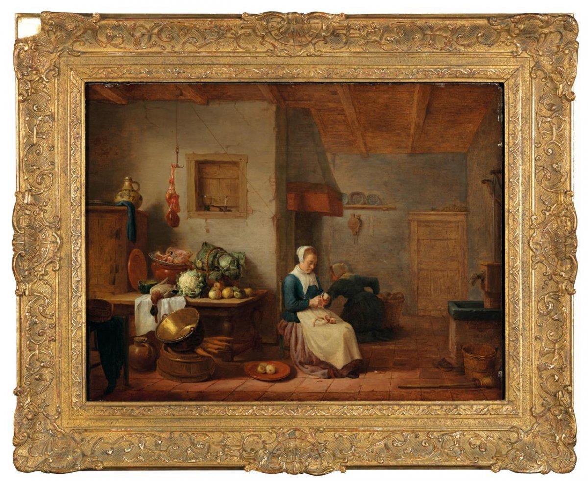 Hendrick Martenz Rokes Appelé Sorgh (1611 - 1670, Rotterdam)