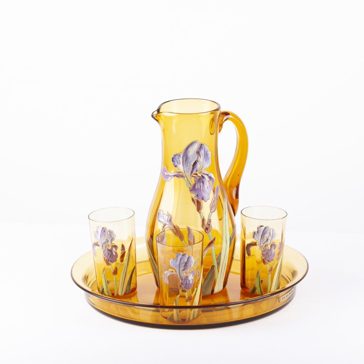 Lemonade Glass Service Emile Gale 1890