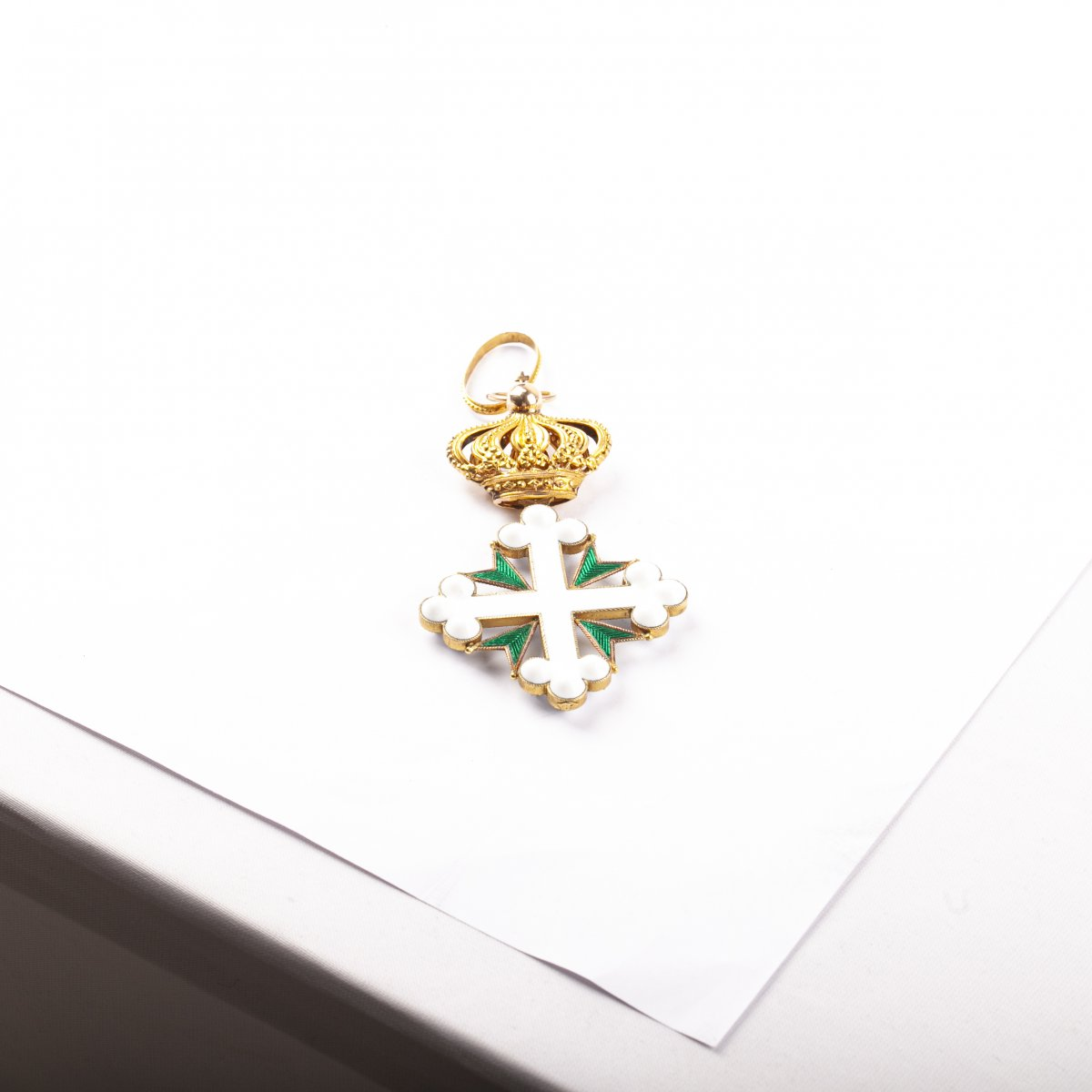 The Gold And Enamel Cross Of The Order Of Saint Maurice And Lazarus With Ribbon -photo-2