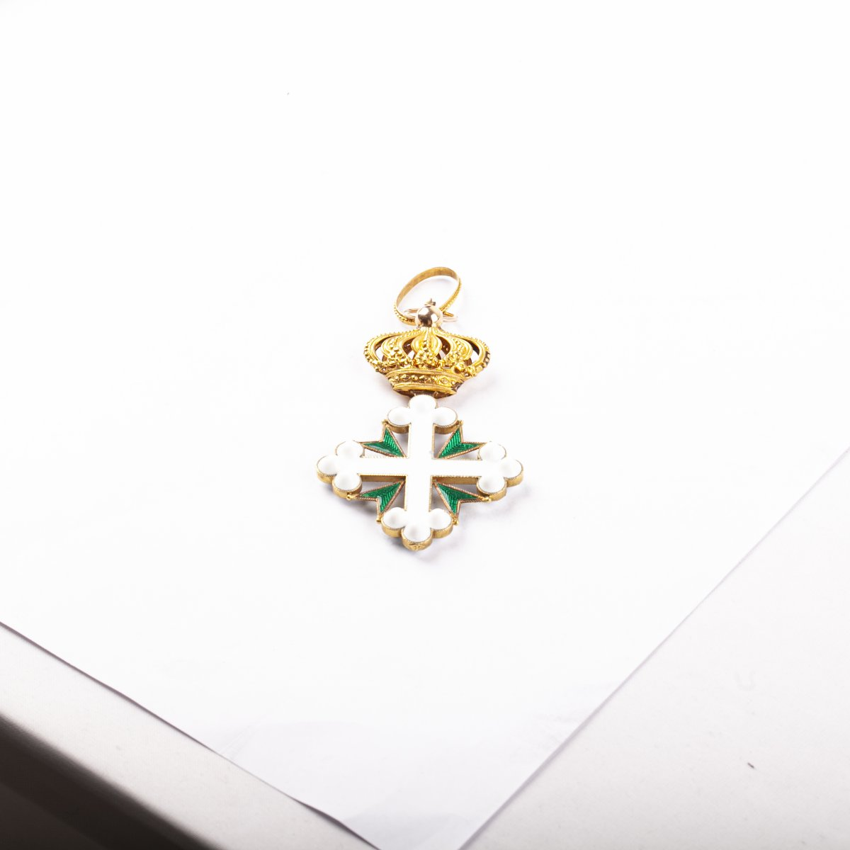 The Gold And Enamel Cross Of The Order Of Saint Maurice And Lazarus With Ribbon -photo-3