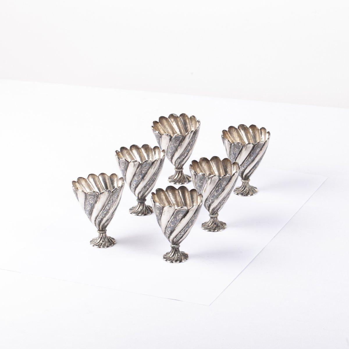 Silver Turkish Zarf 6pcs