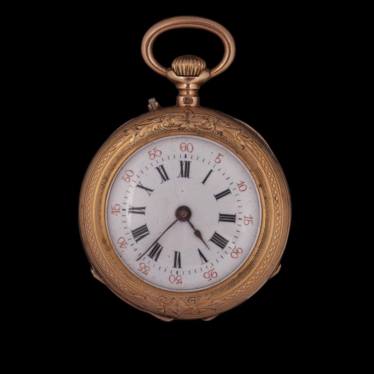 Small 18k Gold Pocket Watch
