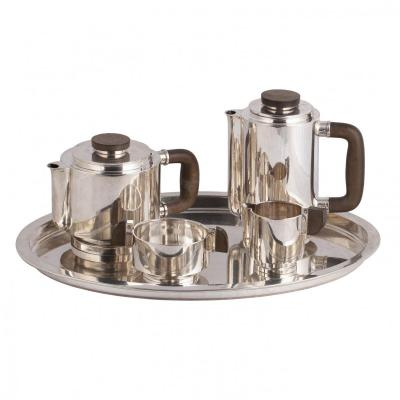 Art Deco Silver Serving Set For Thee And Coffee