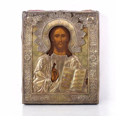Icône Russe De Christ Pantocrator