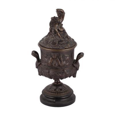 A Decorative Bronze Vase In Rococo Style