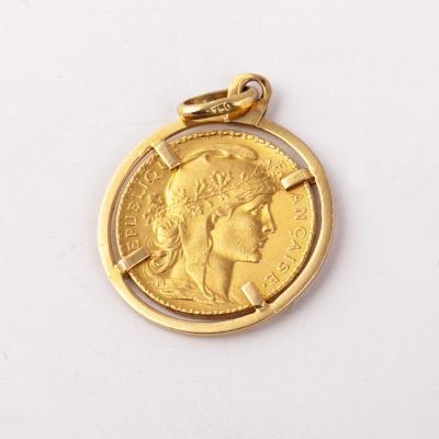 20 Francs French Golden Medallion 1904